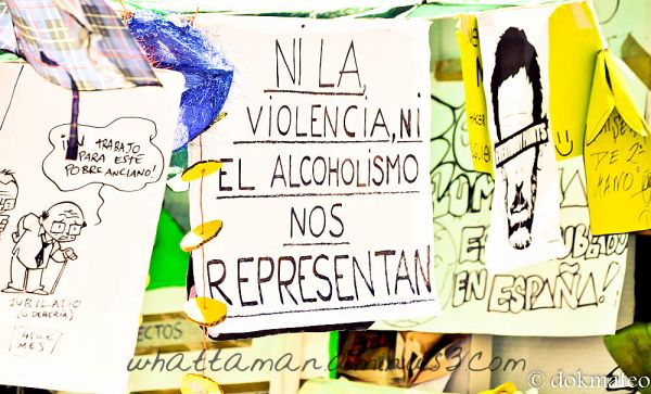 Neither violence nor alcoholism represents us..