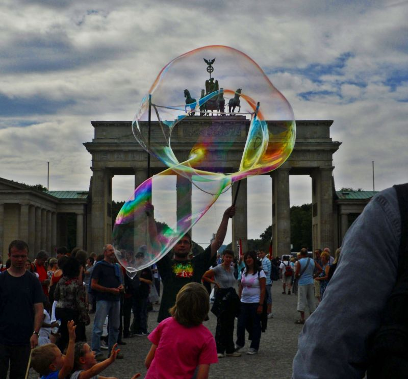 Soap bubble in front of Brandenburger Tor