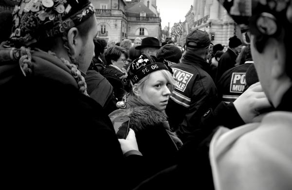 Visage dans la foule