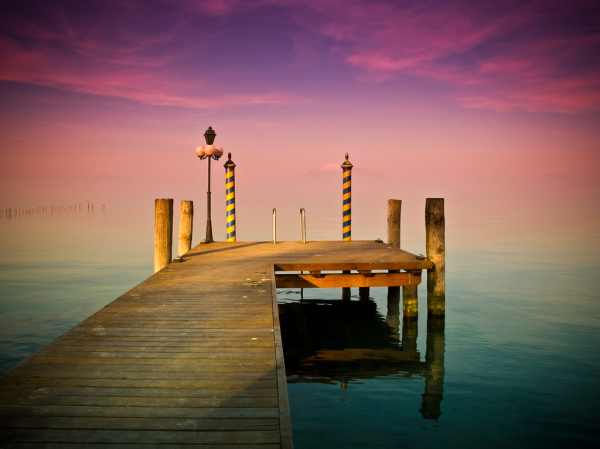 colorful pier