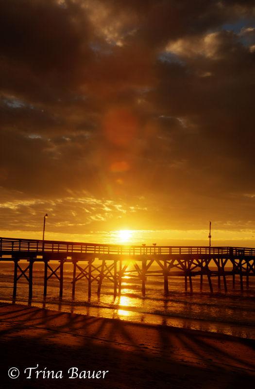 myrtle beach pier winter sunrise morning