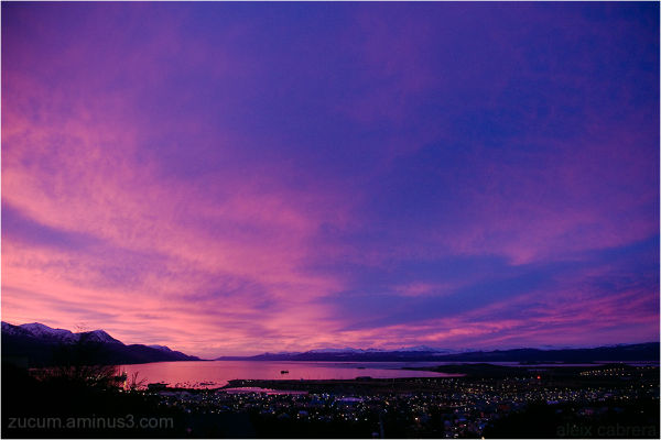 Sunrise in Ushuaia, Argentina