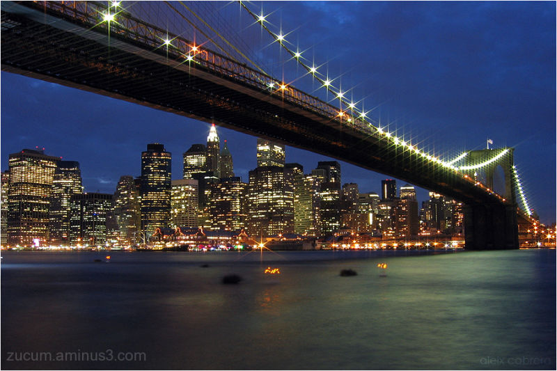 A sight of Manhattan and the Brooklyn Bridge