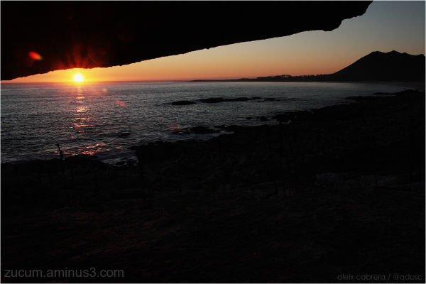 Sunset from Galicia coast