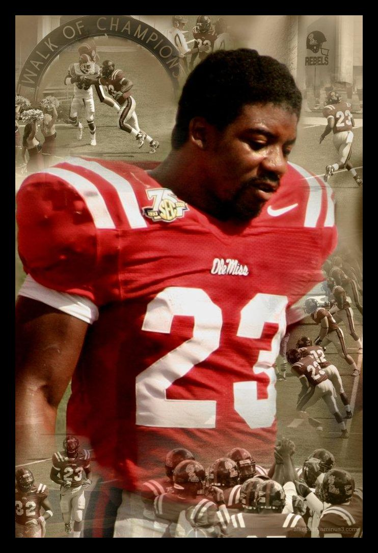 Bruce Hall when playing for Ole Miss