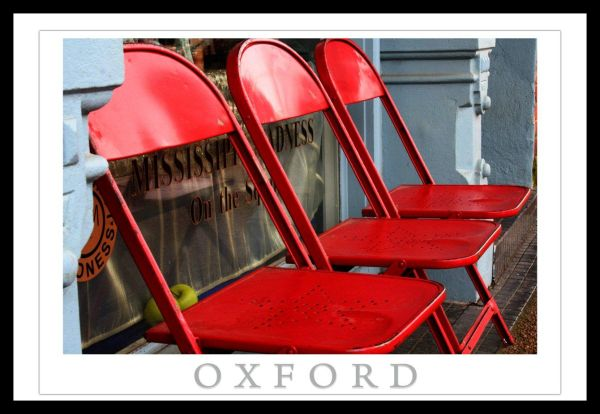 Oxford Mississippi Square Red Chairs Oxford Postca