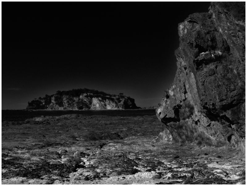Rock face watches over Jimmies Island
