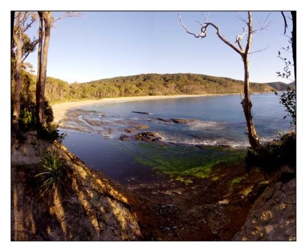 Morning over a bay in southern New South Wales