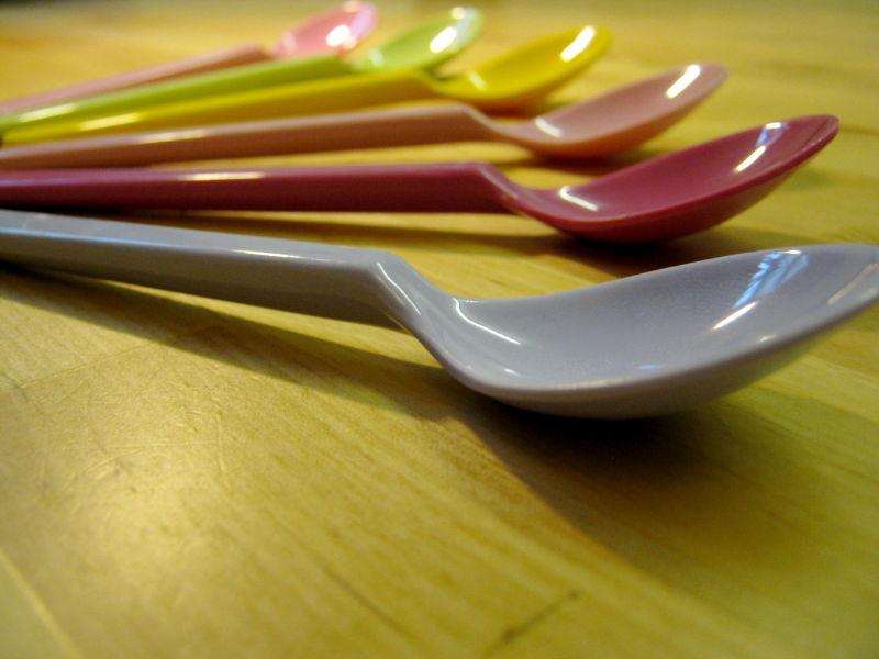 Multicoloured spoons