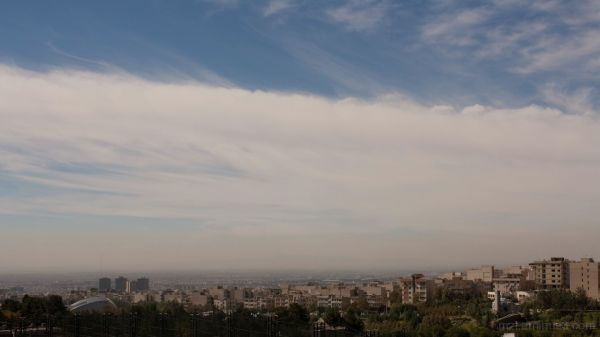 tehran and clouds
