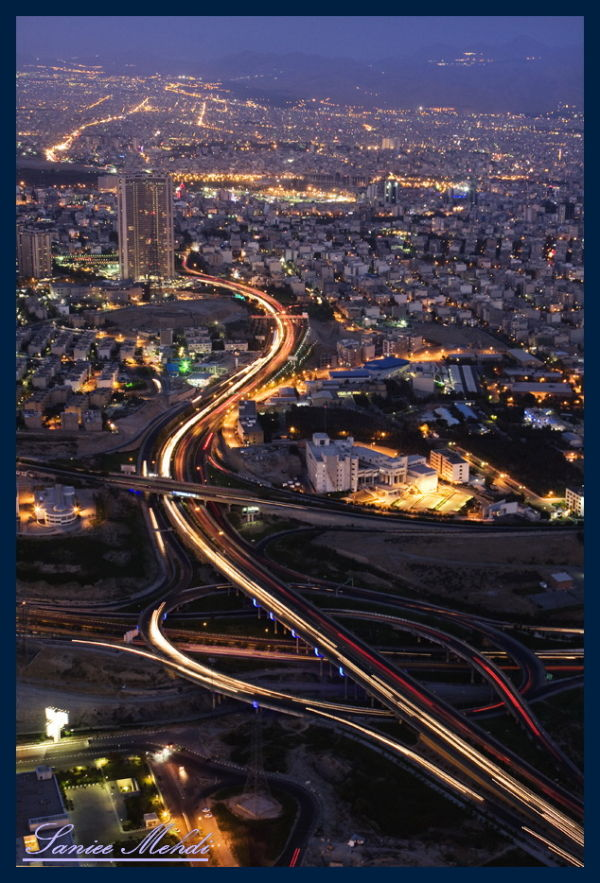 Perspective of the Iranian capital Night.