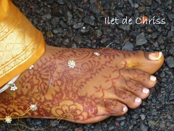 Le pied d'Indira