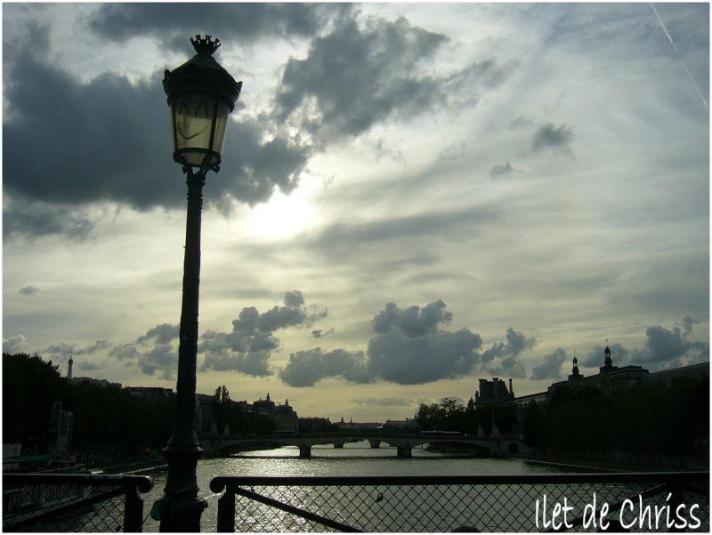 Coucher de soleil sur le Pont des Arts