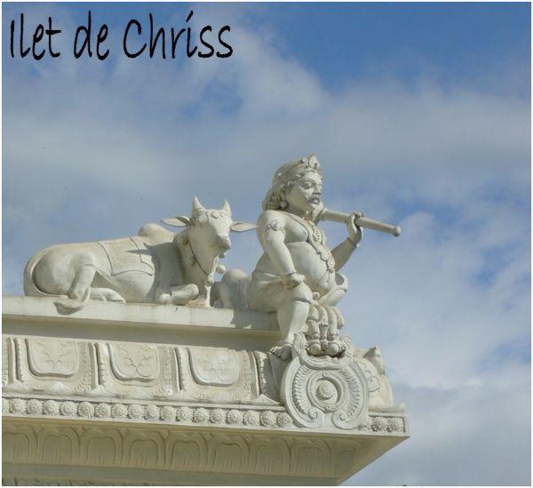 Statues sur le temple hindou