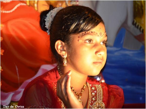 Indienne au Dipavali