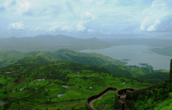 Fort along the green landscape