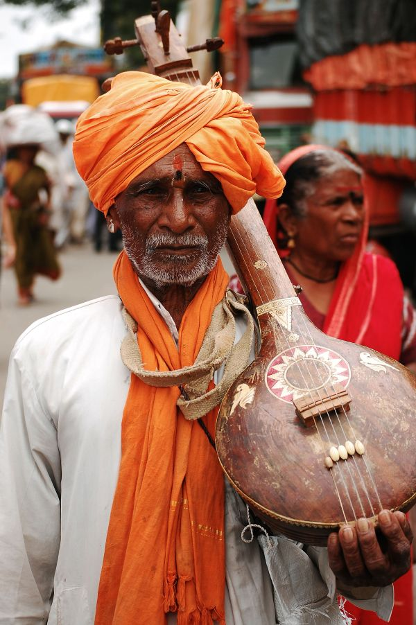 A Devotee on the way to Pandharpur