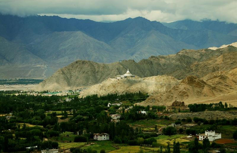 Shanti stupa in Leh in Ladakh