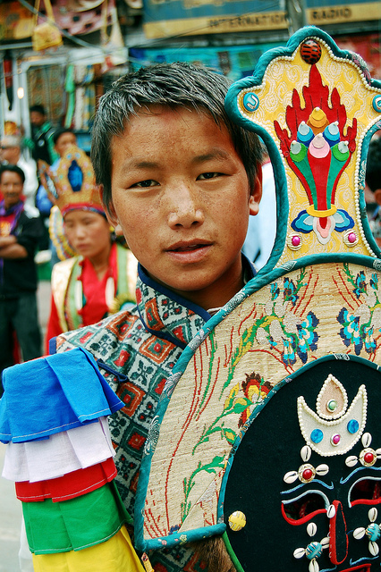 A young boy representing his tribe at Ladakh Fest