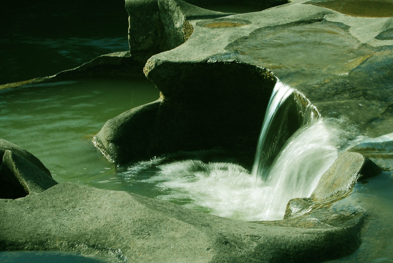 Water flowing from the potholes at Nighoj