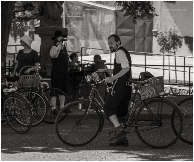 Historical cyclist .