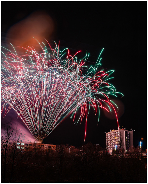 New Year fireworks in Kladno.