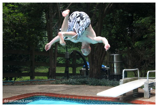 flips in pool