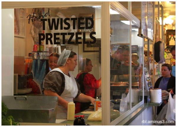 Amish Ladies at Market