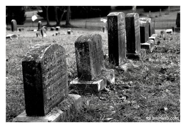 Gravestones at Little Elk Friends Meeting Cemetery