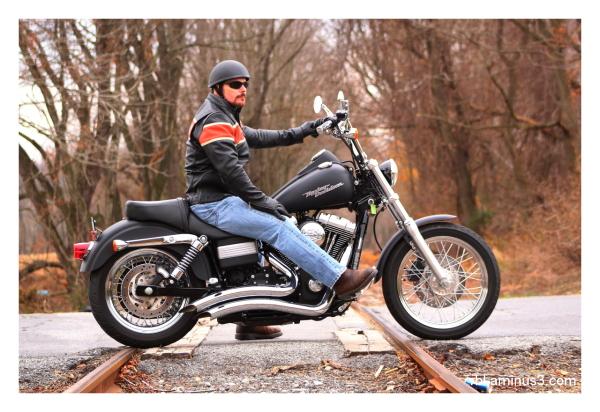 Harley Davidson at Railroad