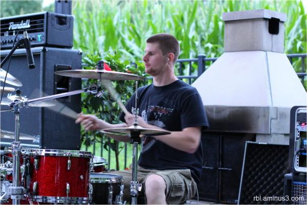 Tyler Kilby, drummer for Half Past Seven Band