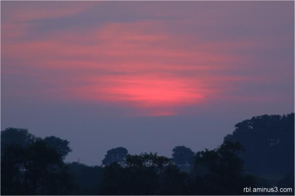 Sunset at Octorara Countryside