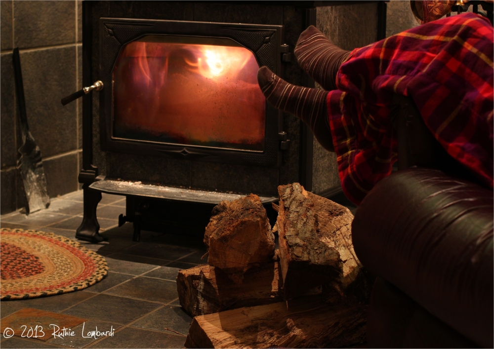 warmth by the wood stove