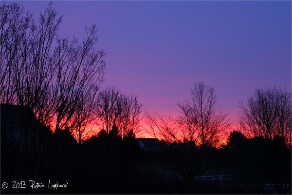 January Sunrise in Oxford PA