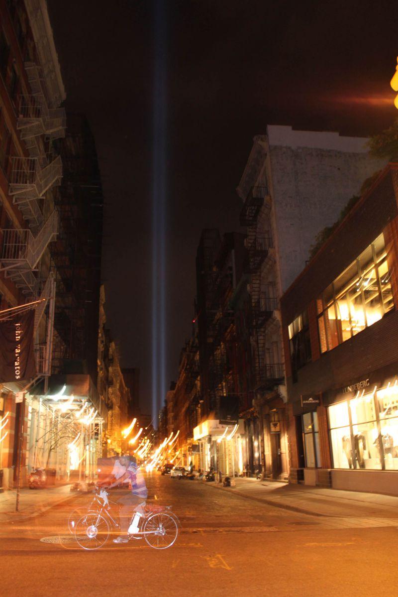 Bike,NYC,Twin Towers, Light, In the Sky, Dedicatio