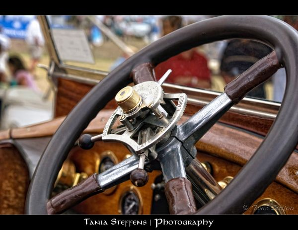 Rolls Royce Steering Wheel Closeup