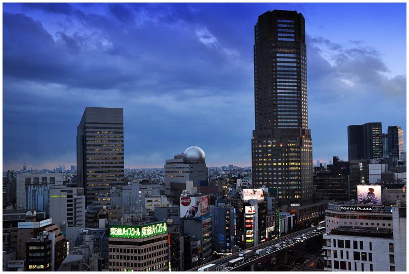 Stormy sky upon Tokyo