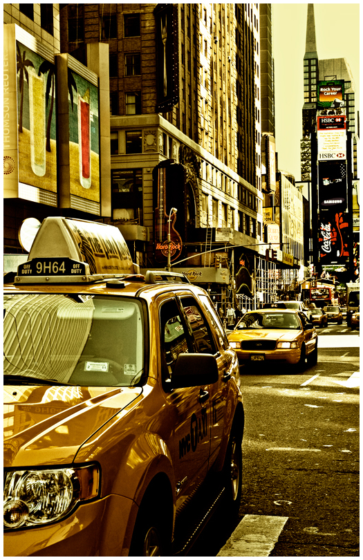 Cab on Time Square NYC