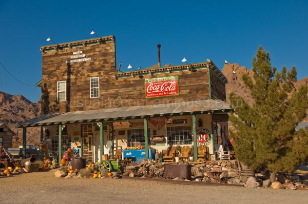 Ghost town in Nelson, NV
