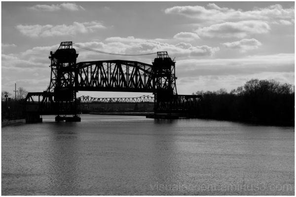 Railroad lift bridge in Joliet, Il.