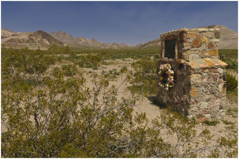 Bullfrog Cemetery in Rhyolite, Nevada