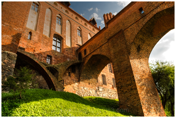 Kwidzyn Castle is a large brick gothic castle.
