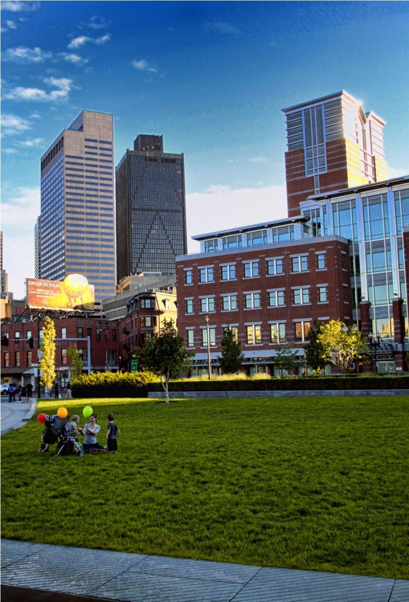 Family at Boston Downtown