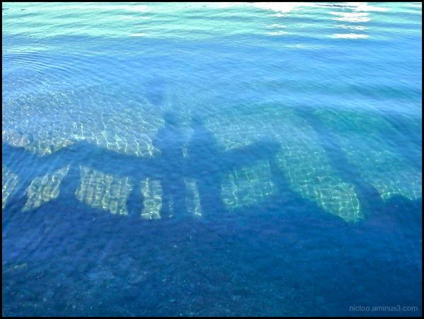 Reflet de Nictoo & Elisabeth sur le lac d'Orta