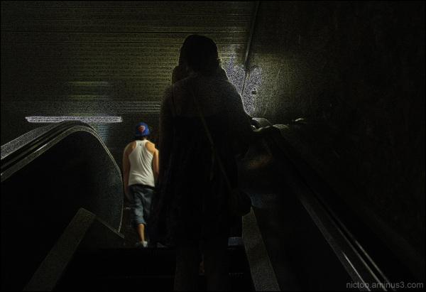 Les escaliers du métro sont dur aux miséreux...