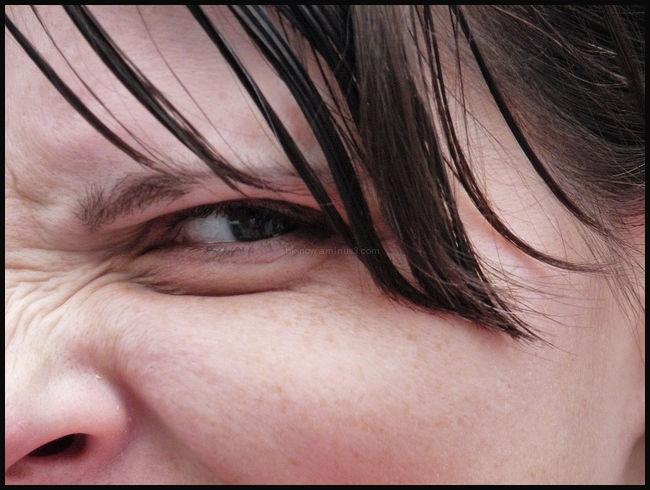 Close up face woman