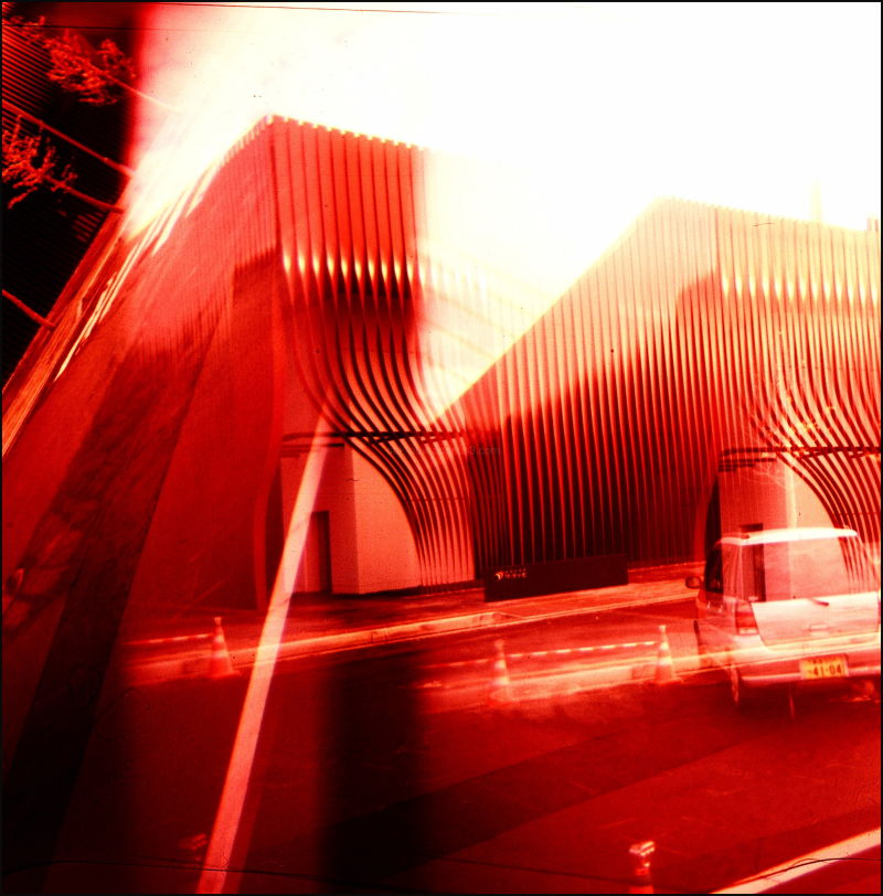 Japan Aomori Building HOlga Double-exposure