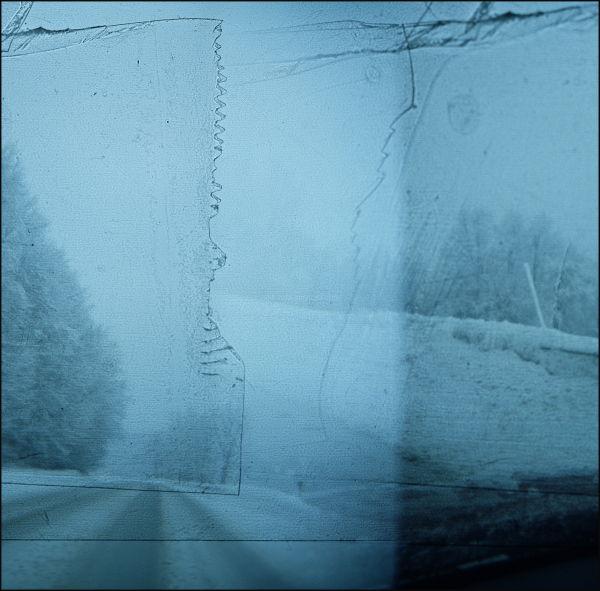 holga vermont 120 tapemask driving snow