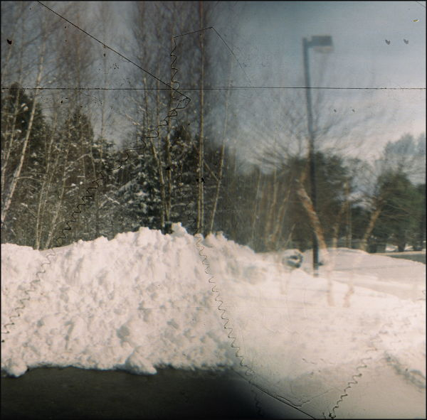 Holga 120 vermont snow bank rural