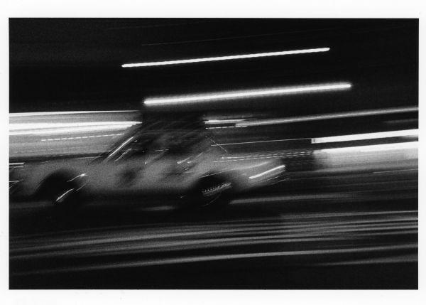 taxi racing in the night